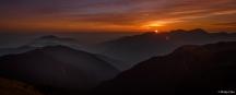 Sunset from Mt. Hehuan Main Peak, Mt. Hehuan, Taiwan (台灣 合歡主峰 夕陽)