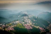 View from Hanayagura Viewpoint, Mt. Yoshino, Yoshino, Japan